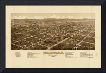 Bird's Eye View of DeLand, Florida (1884)