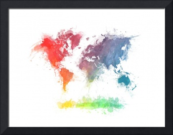 world map splash 3