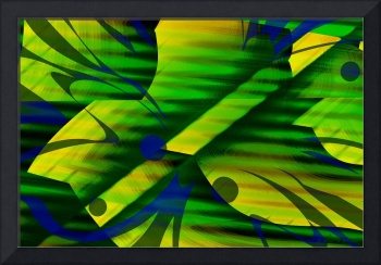 Mellow Green Yellow Abstract