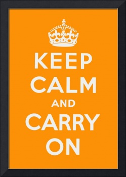 Orange Keep Calm And Carry On 2