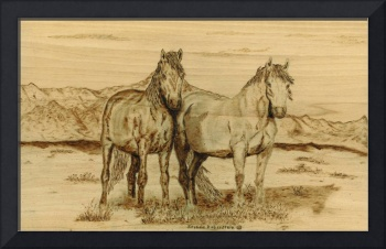 Horses on the High Plains of New Mexico by Brenda