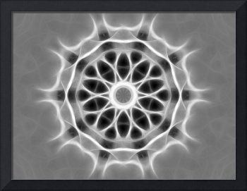 Gray Kaleidoscope Art 28