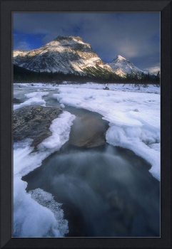 Freezing Mountainous River, Banff National Park, A