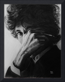 Bob Dylan. Charcoal drawing