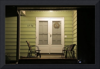 Porch at Night in Suburban New Jersey