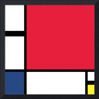 Composition by Mondrian - Digital Version