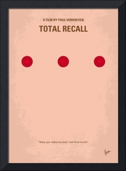 No097 My Total Recall minimal movie poster