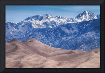 Sand Dunes and Rocky Mountains