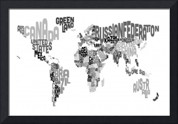 Text Map of the World