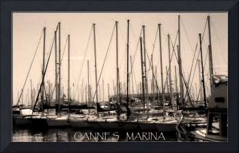 Cannes Marina poster