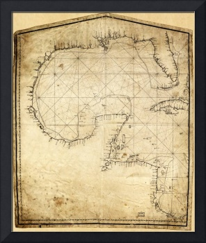 Gulf of Mexico Map (1730)