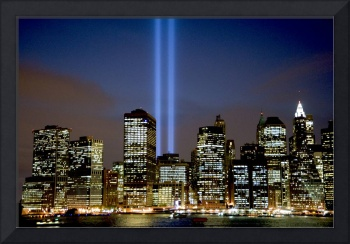 Tribute in Light over New York City