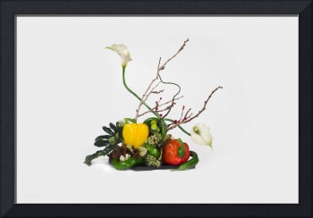 Ikebana from vegetables
