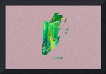 Artistic Map of Belize