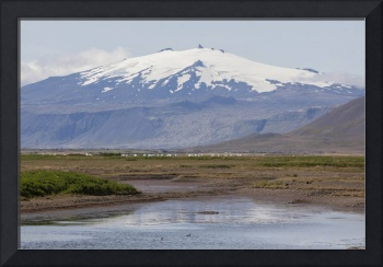 Looking towards Snaefellsjokull, Iceland