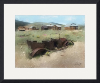 Bodie Car (Painting) by D. Brent Walton