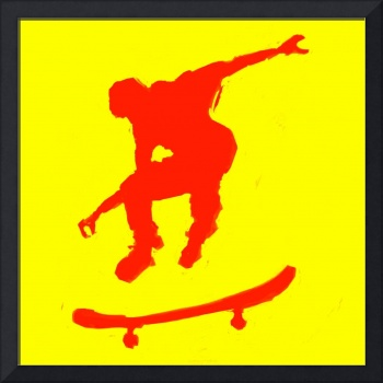 Skateboarder 3 . yellow red (c)