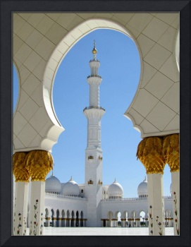 Sheikh Zayed Grand Mosque Prayer Yard Arch