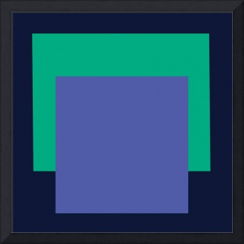 SQUARE FORMAT black green blue F