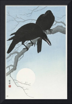 Crows on a Branch by Ohara Koson
