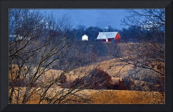 The Barn Through the Trees