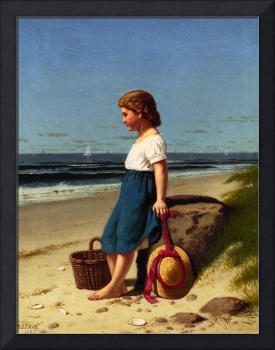 Young Girl At The Seashore by Samuel S Carr