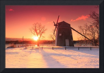 Orleans Windmill Winter 2017 February