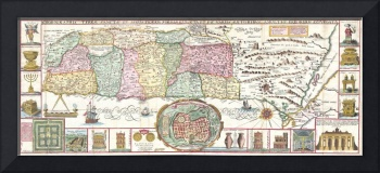 Vintage Map of Israel (1632)