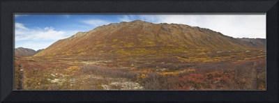 Panoramic of Hanging Valley in Chugach State Park,