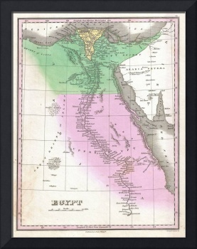 Vintage Map of Egypt (1827)