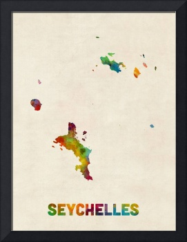 Seychelles Watercolor Map