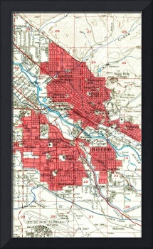 Vintage Map of Boise Idaho (1954)