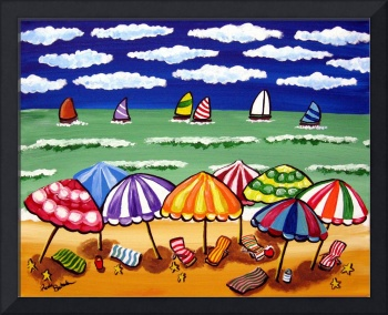 Whimsical Beach Scene