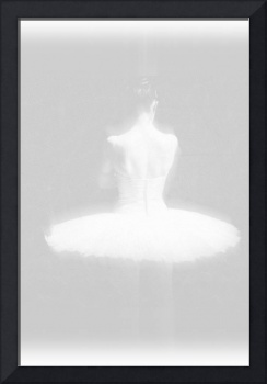 Ballet Dancer Standing White on White
