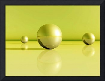 greenyellow spheres