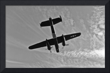 North American B-25G Mitchell bomber in flight nea