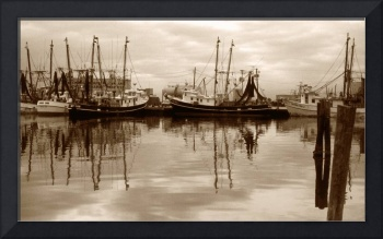 Shrimp Boats On The Texas Gulf Coast