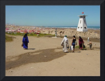 East meets West at the Beach, Casablanca, Morocco