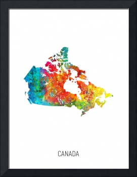 Canada Watercolor Map