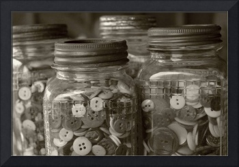 Buttons in Sepia