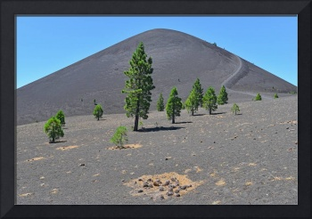Circle of Cones below Volcanic Cinder Cone