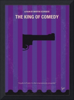 No496 My The King of Comedy minimal movie poster