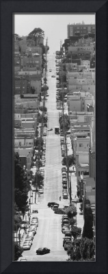 Street of San Francisco black and white