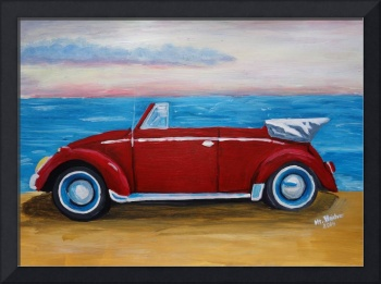 red bug with sea