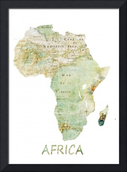 Africa map cartography