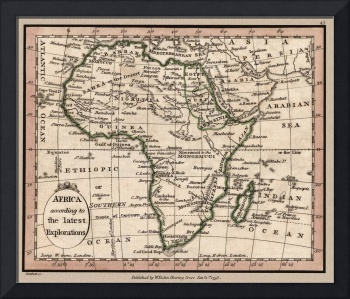 Africa Antique Map 1798