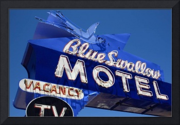 Route 66 - Blue Swallow Motel Neon