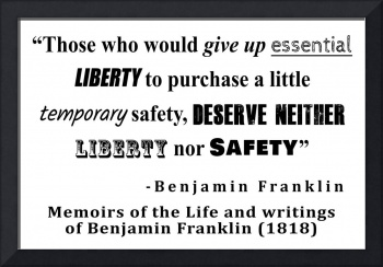 Liberty and Security Benjamin Franklin Quote