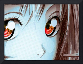 Anime Girl Eyes 2 Blue