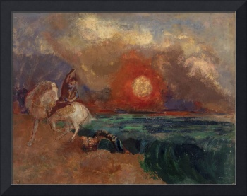 Saint George and the Dragon by Odilon Redon